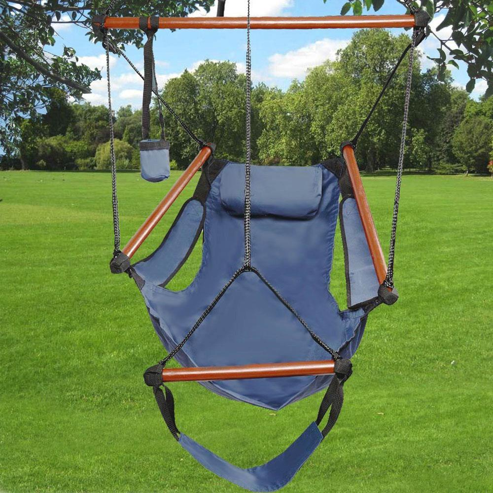 Outdoor Indoor Hammock Hanging Chair Air Deluxe Swing ...