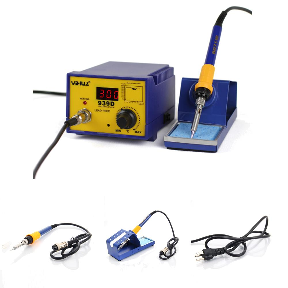 YiHUA-939D 60W Constant Temperature Soldering Station Iron Welding Tool Kit 110V