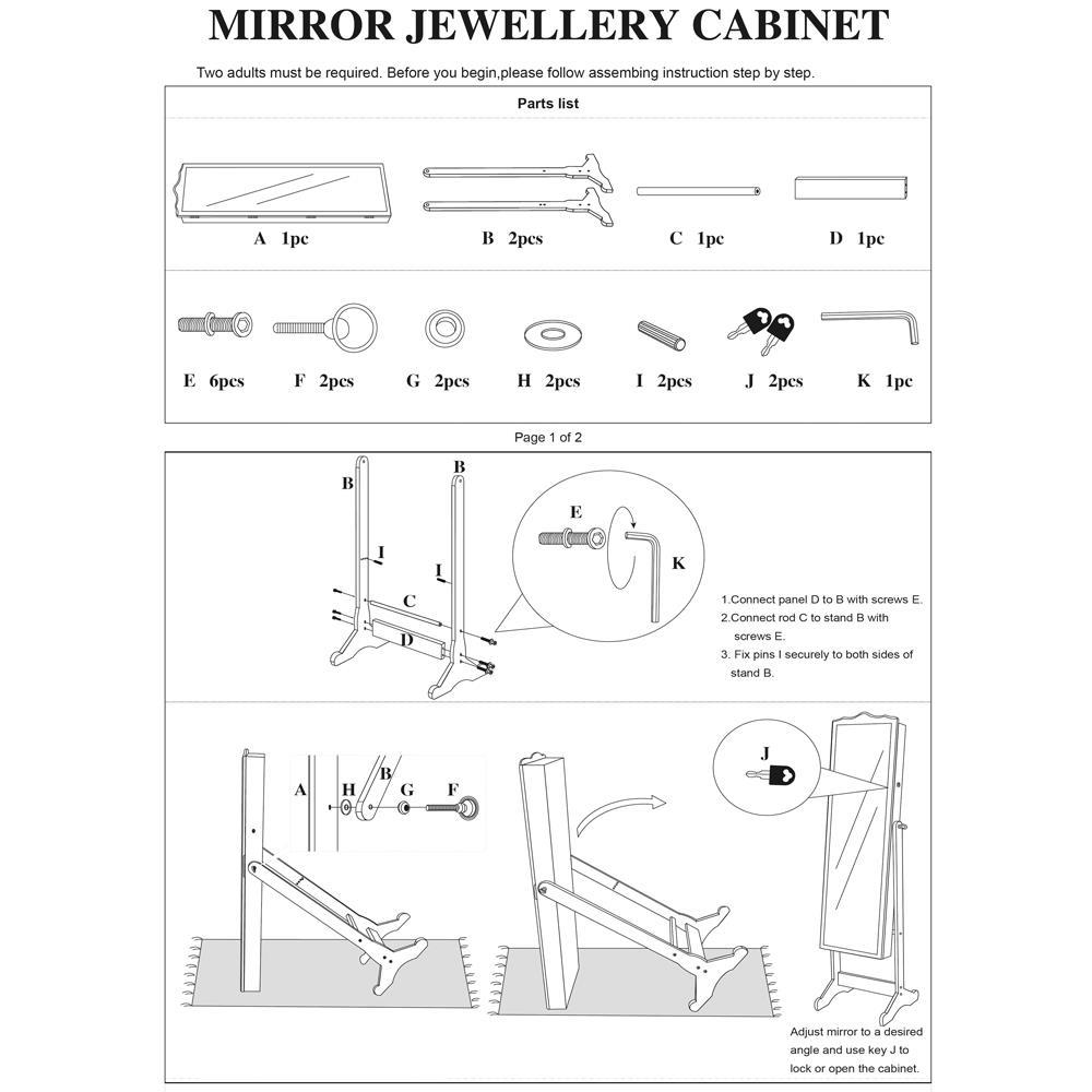 Armoire D Angle Dressing details about dressing mirror jewelry cabinet armoire organizer storage box  with floor stand